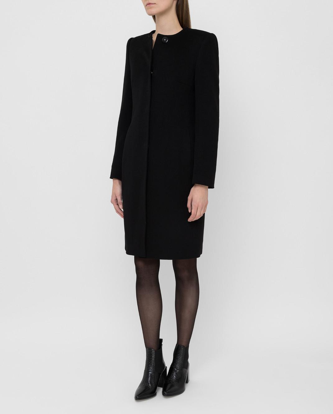 Heresis Черное пальто из шерсти D20M100SLIMG300 изображение 3