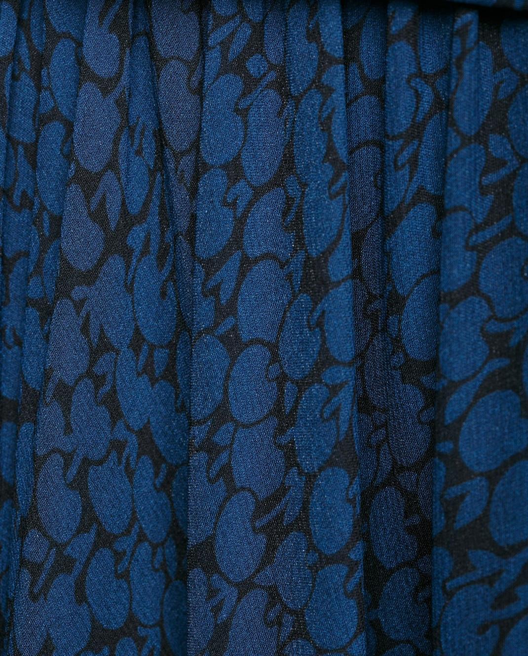 Alexander Terekhov Синяя юбка из шелка SK011 изображение 5