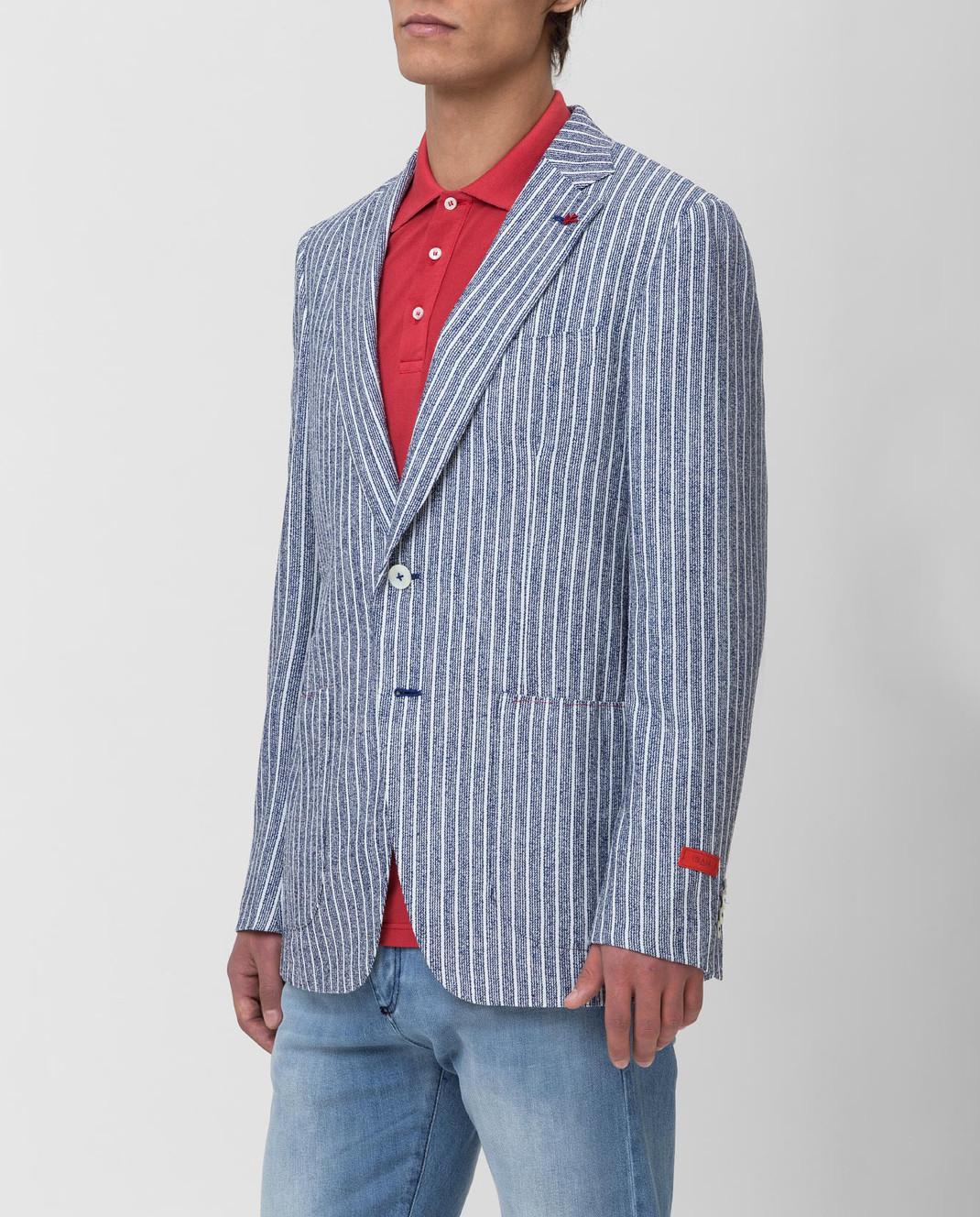 ISAIA Синий пиджак изображение 3