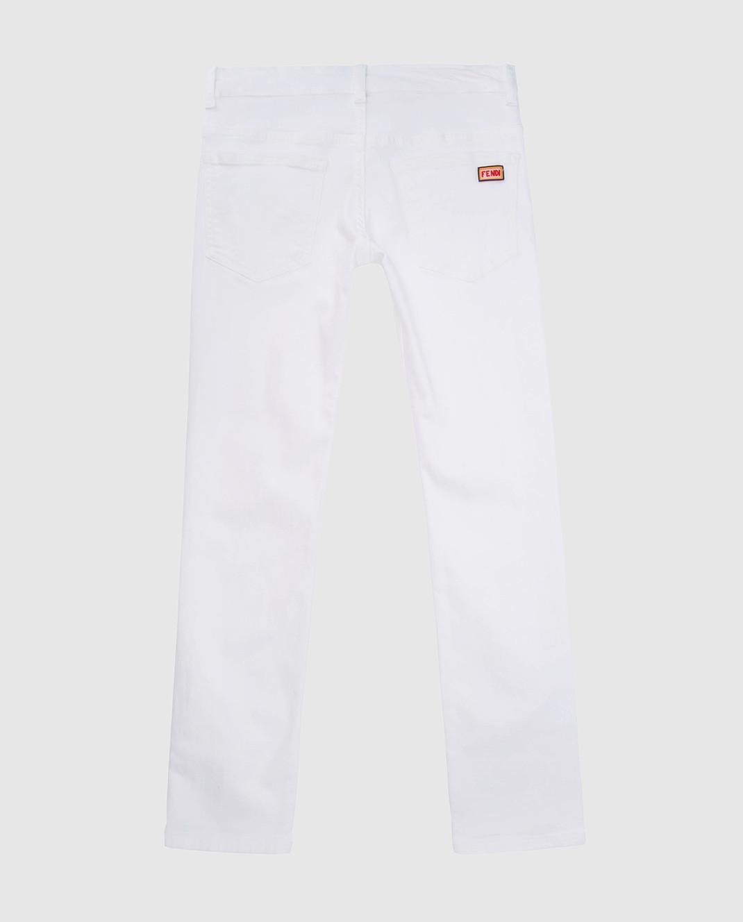 Fendi Детские белые джинсы JFF0901012 изображение 2