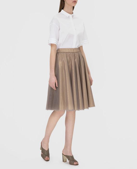 Золотистая юбка с люрексом hover