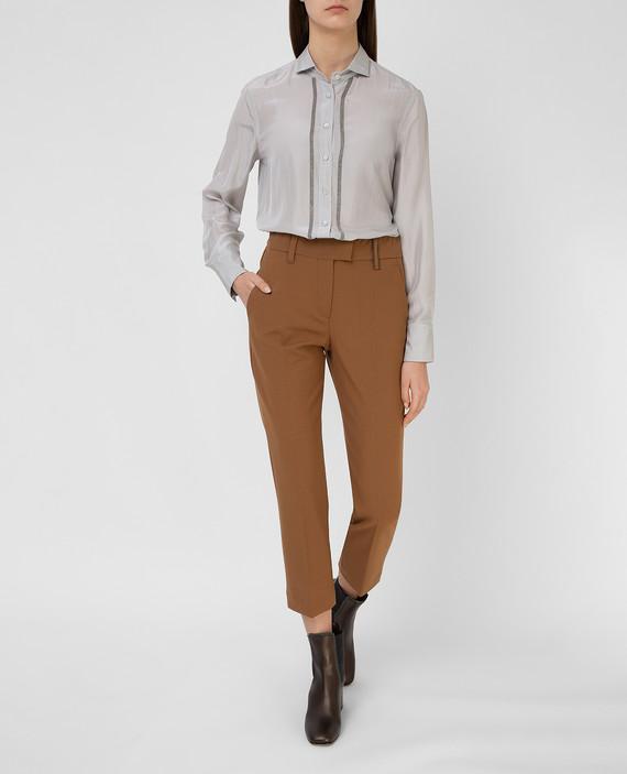 Коричневые брюки hover
