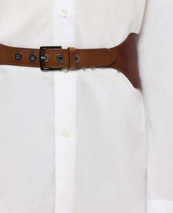 Коричневый кожаный ремень hover