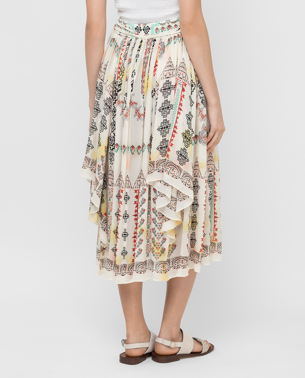 Etro Светло-бежевая юбка из шелка D18711 изображение 4