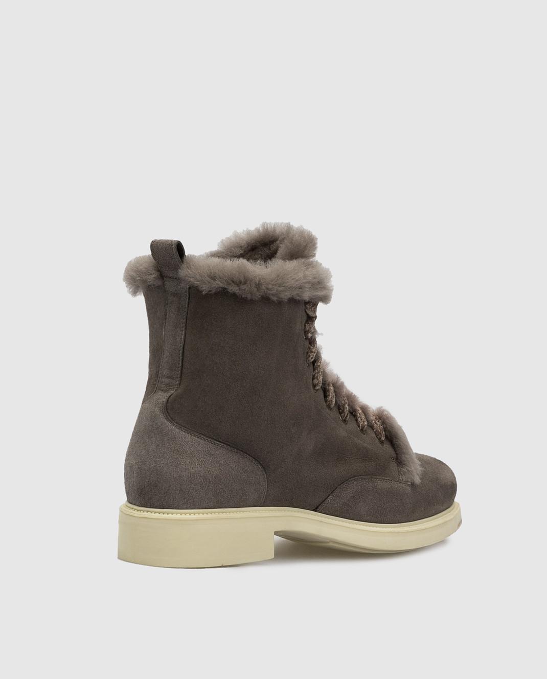 Santoni Темно-серые замшевые ботинки на меху WTEK58384SCOAEYT изображение 4