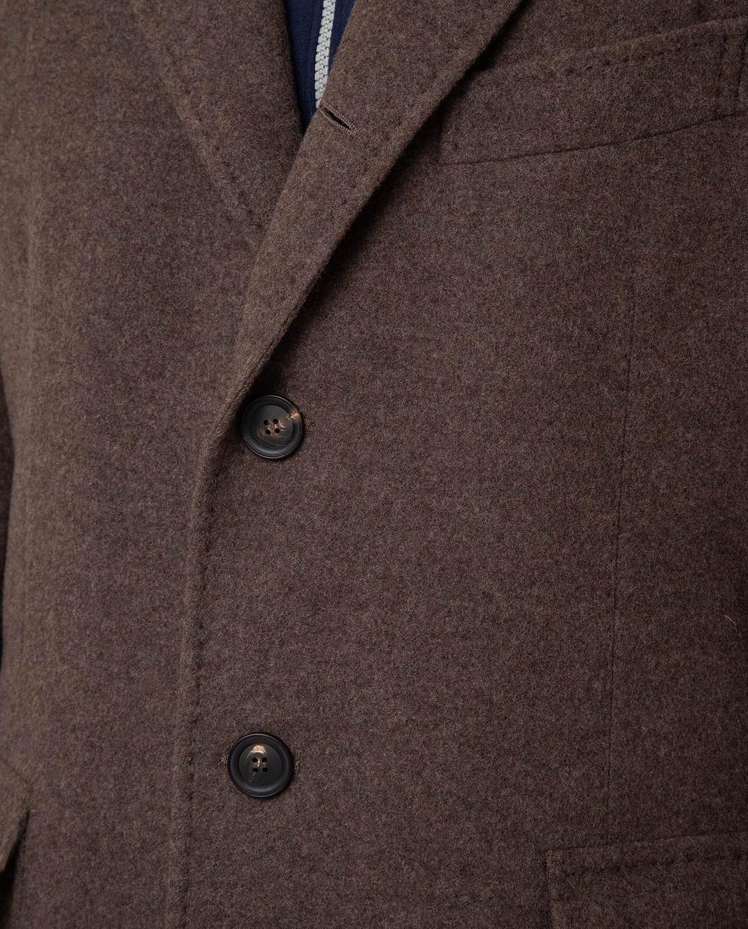 Stile Latino Коричневое пальто из шерсти и кашемира CUALFIO4592TMC20 изображение 5