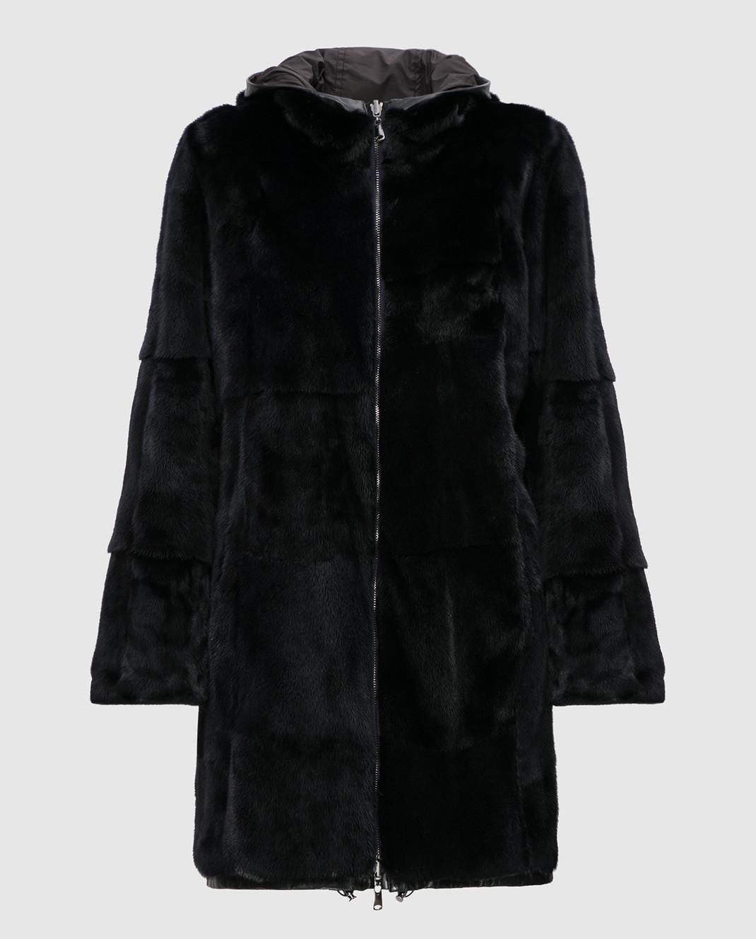 Real Furs House Черная двусторонняя парка 943RFH