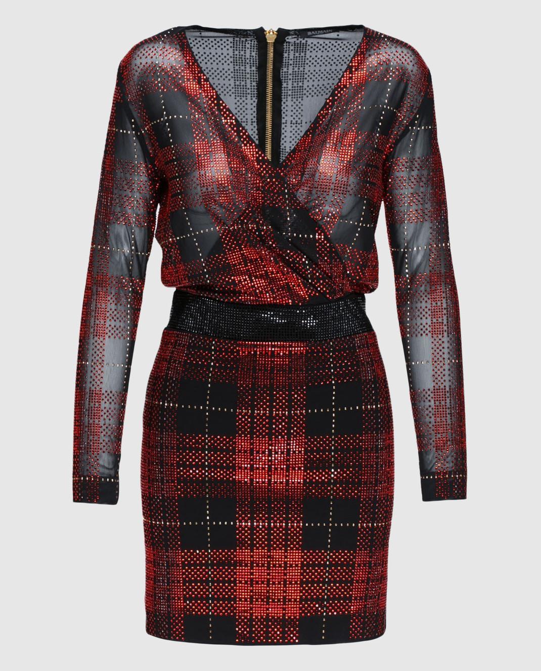 Balmain Красное платье 103596