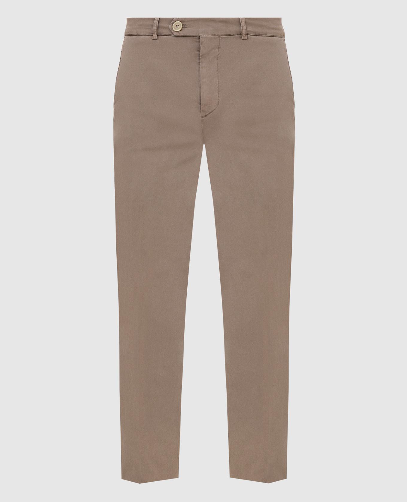 Темно-бежевые брюки