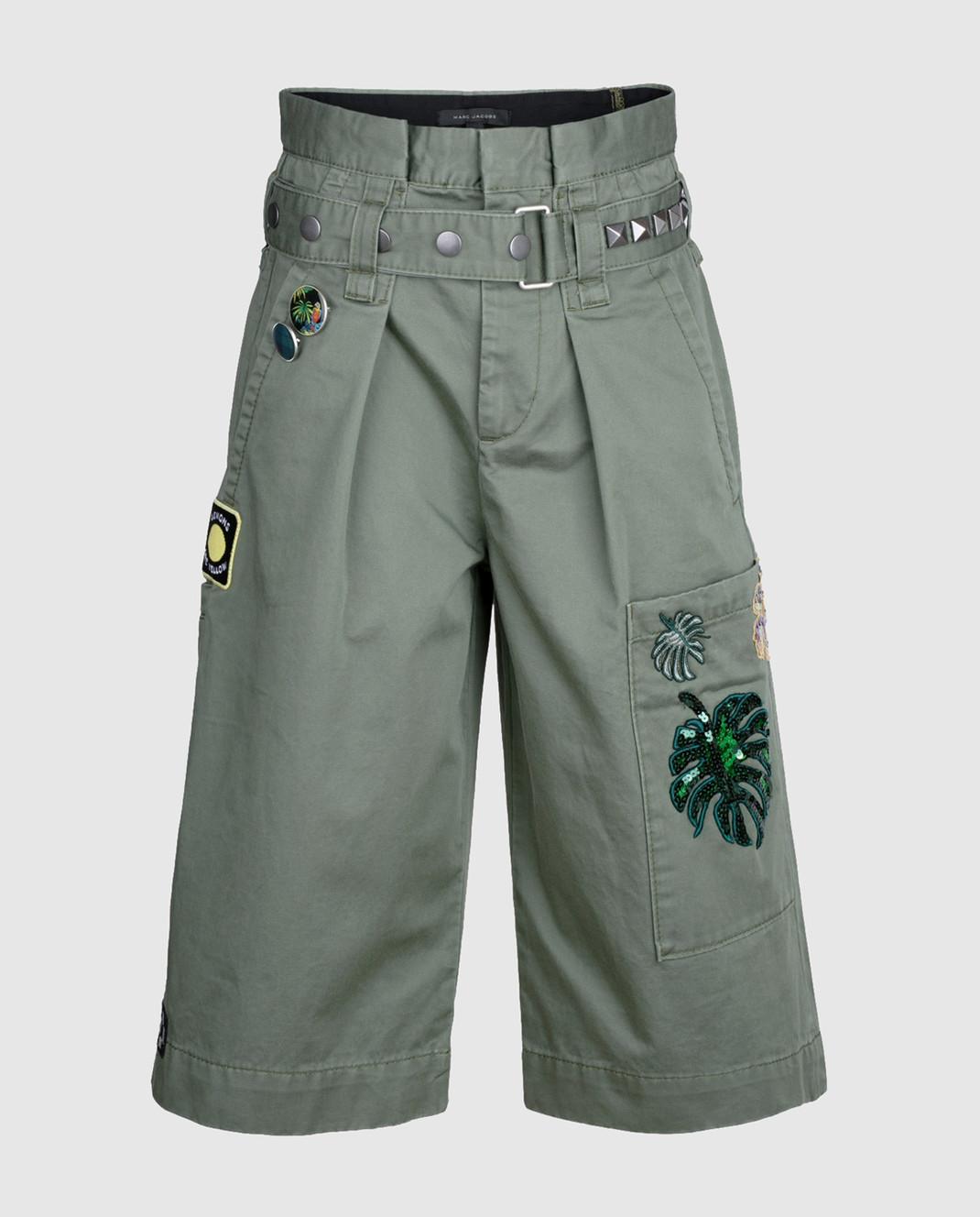 Marc Jacobs Зеленые шорты со съемным ремнем M4006493