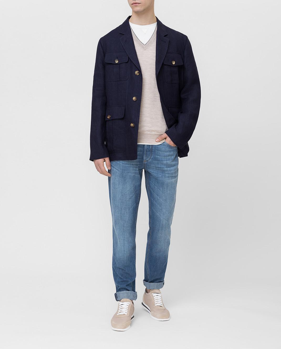 Brunello Cucinelli Синяя куртка MD4176848 изображение 2