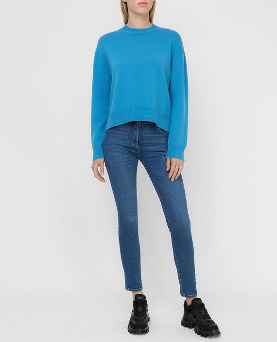 Голубой свитер из кашемира hover