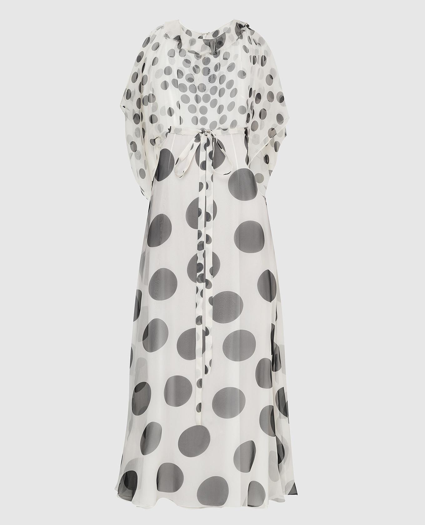 Белое платье из шелка Valentino
