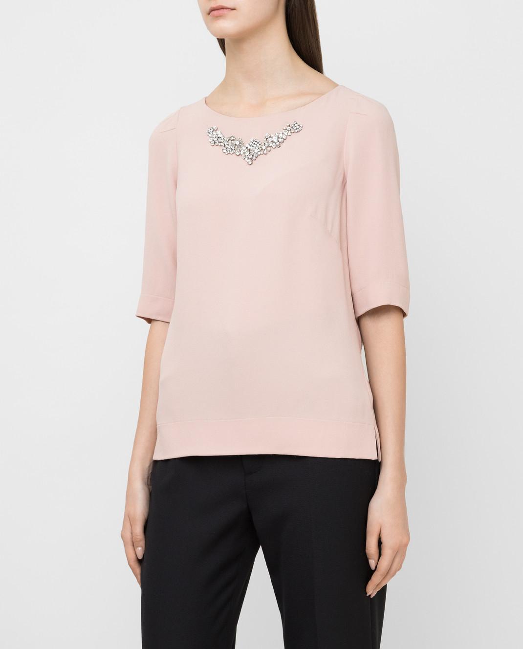 Jenny Packham Пудровая блуза с кристаллами WT104 изображение 3