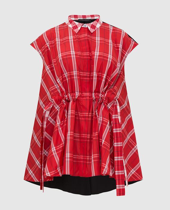 Красная блуза