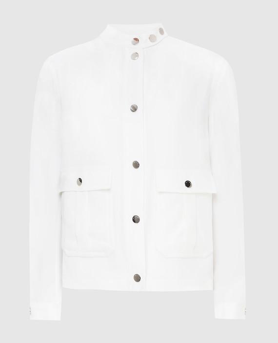 Светло-бежевая куртка из шелка