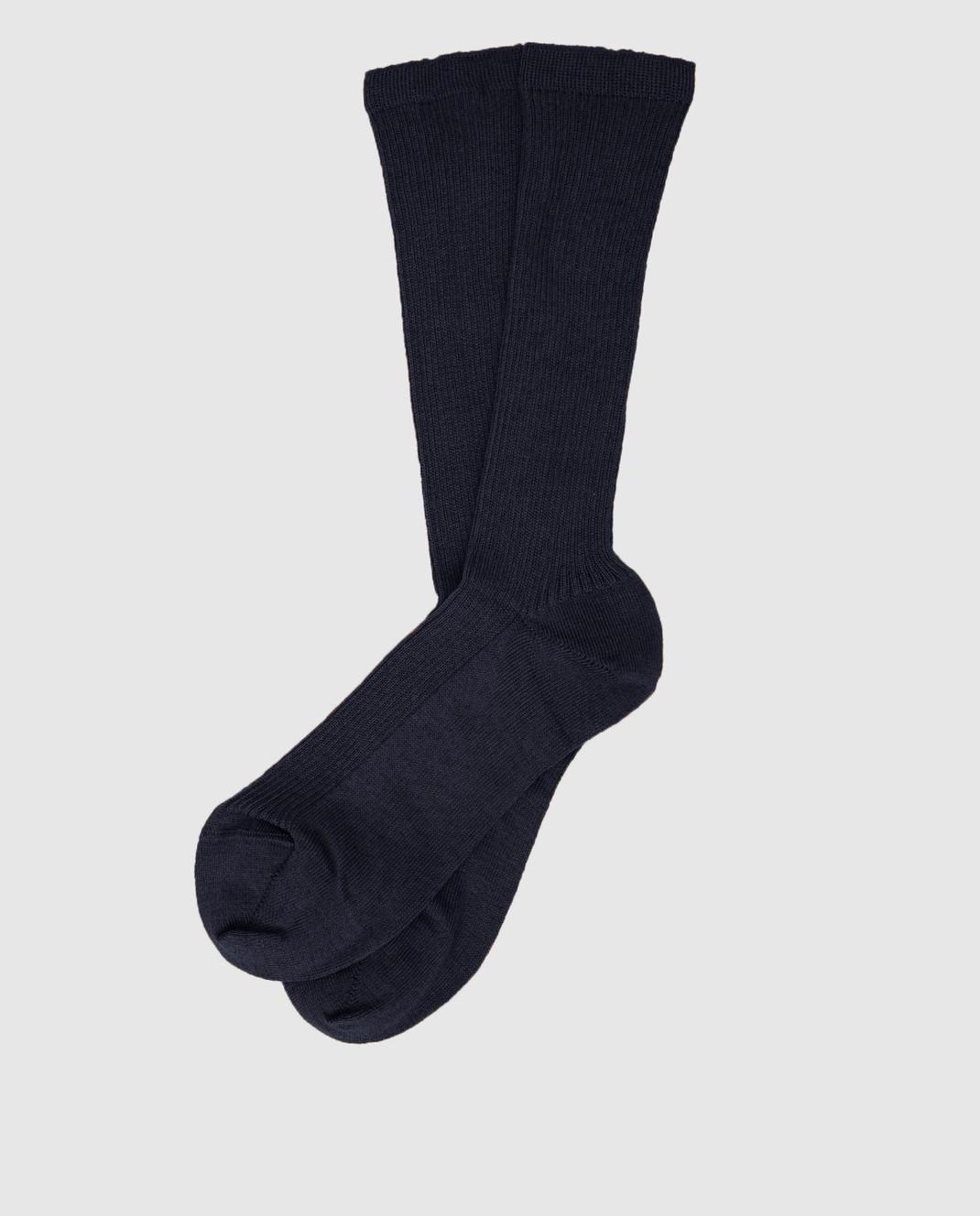 Max Mara Weekend Темно-синие носки изображение 1