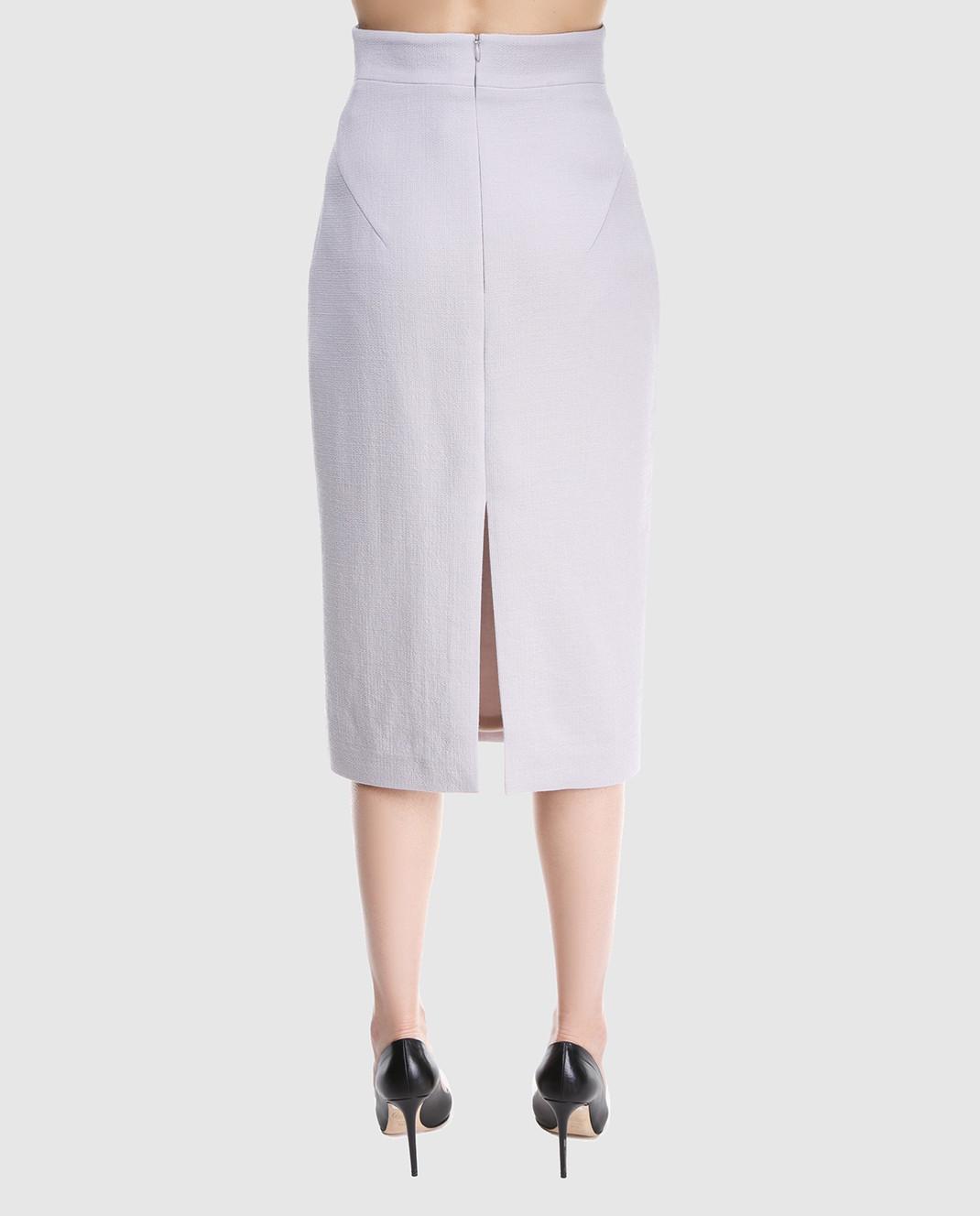 A la Russe Светло-серая юбка 371004 изображение 4