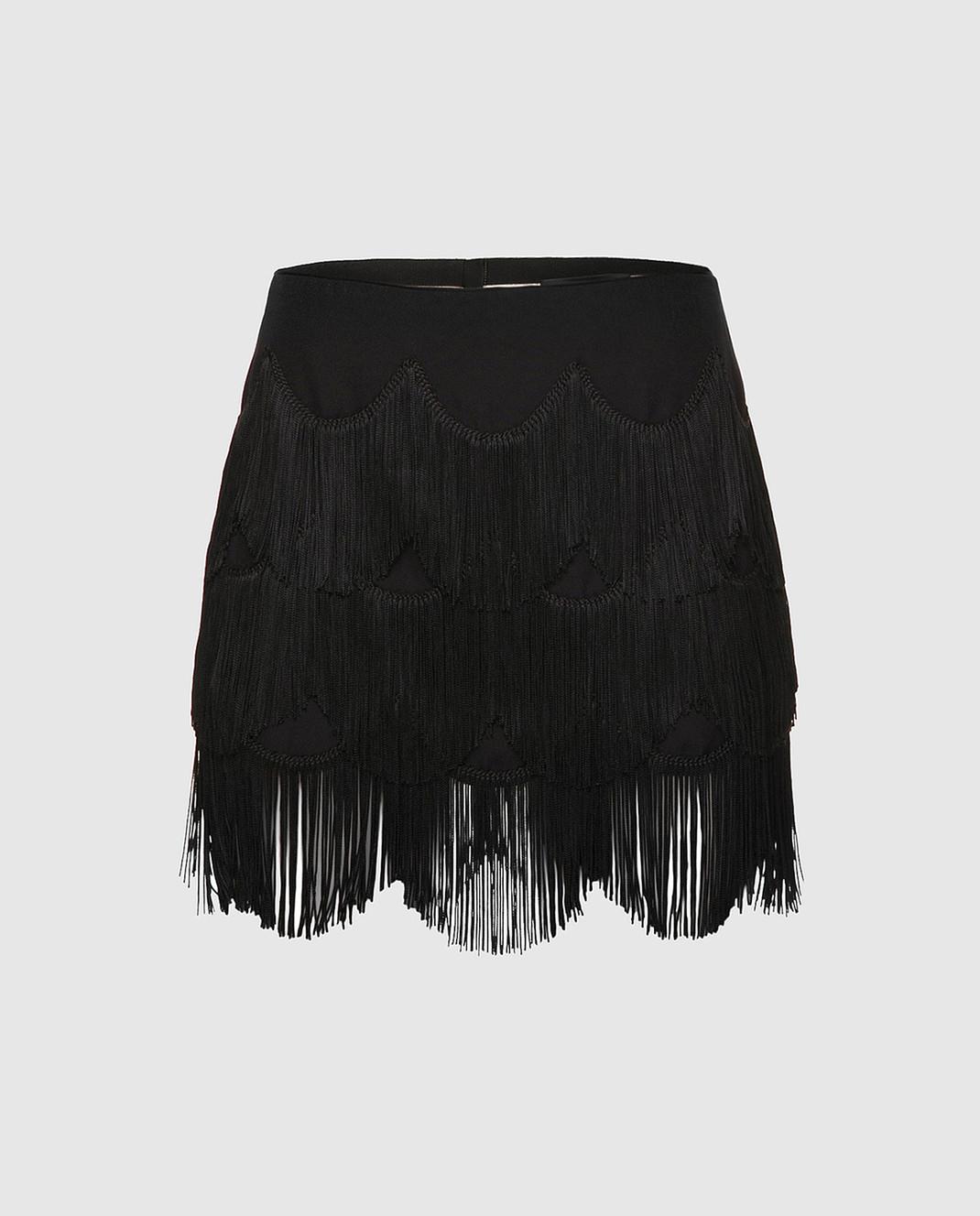 Marc Jacobs Черная юбка с бахромой M4007161