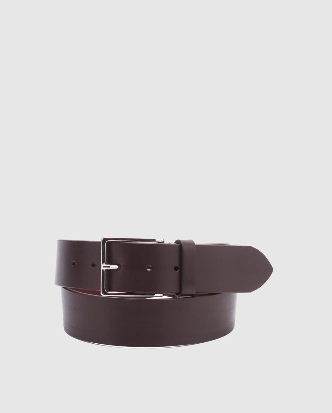 Bochicchio Темно-коричневый кожаный ремень 1011