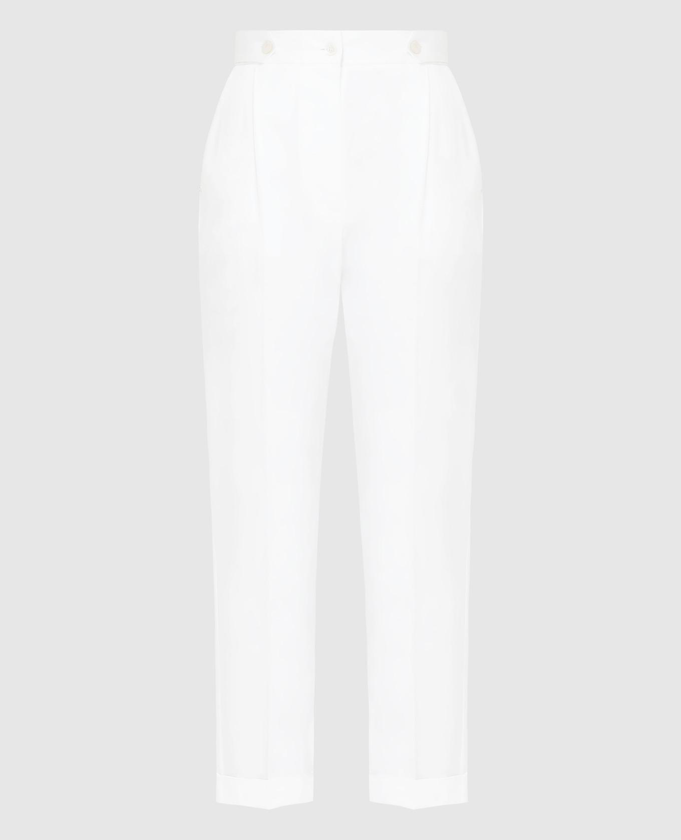 Белые брюки Kiton