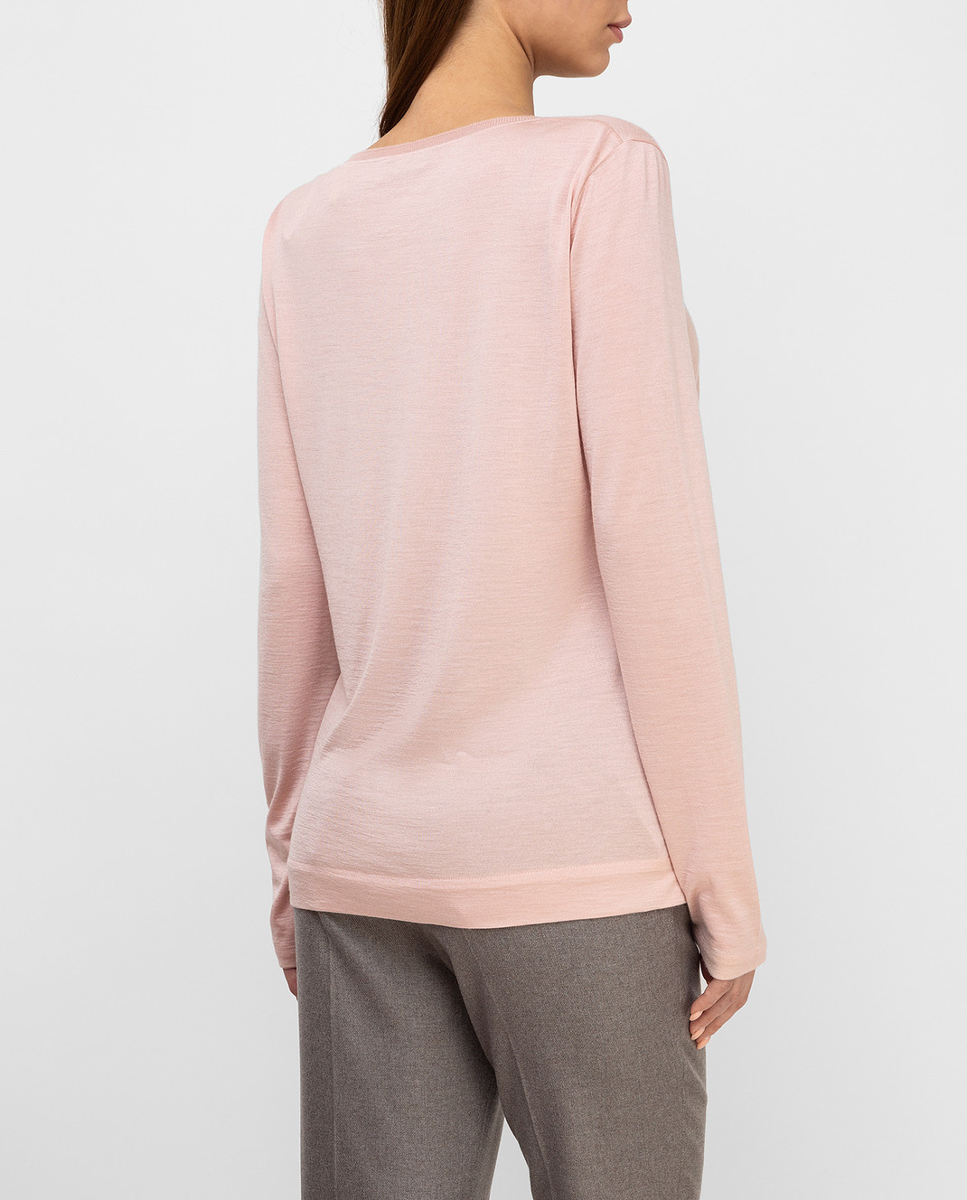 Loro Piana Розовый джемпер из кашемира и шелка F2FAE5730 изображение 4