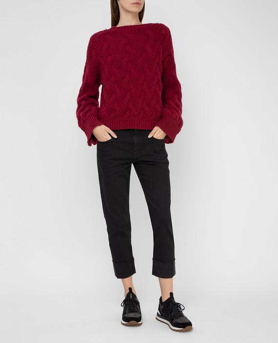 Бордовый свитер из кашемира hover