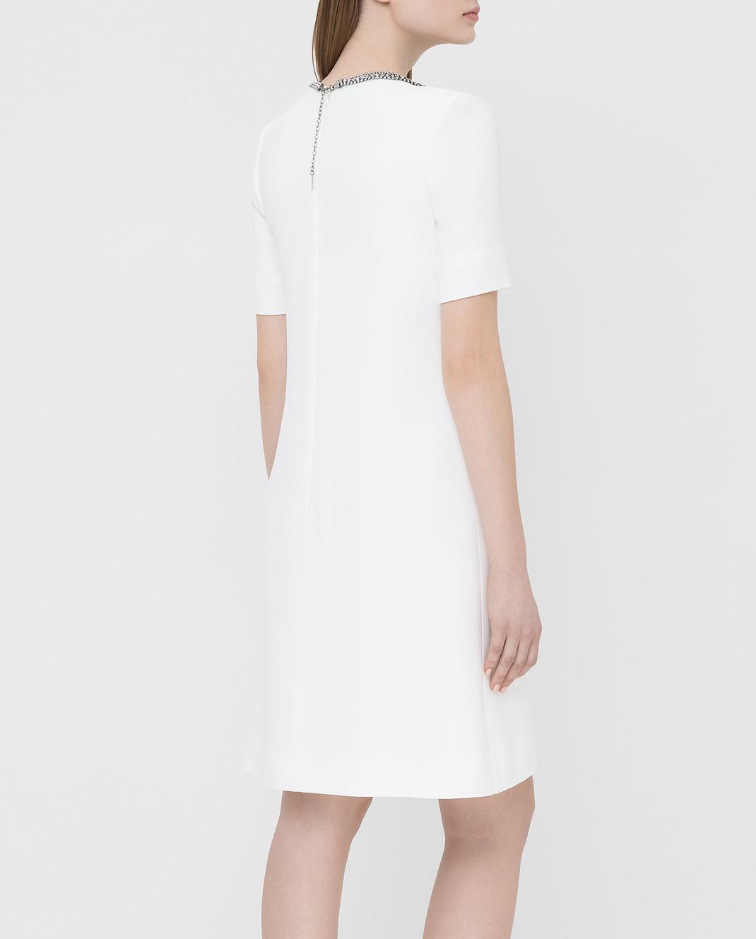 Ermanno Scervino Белое платье с кристаллами D362Q366UKF изображение 4