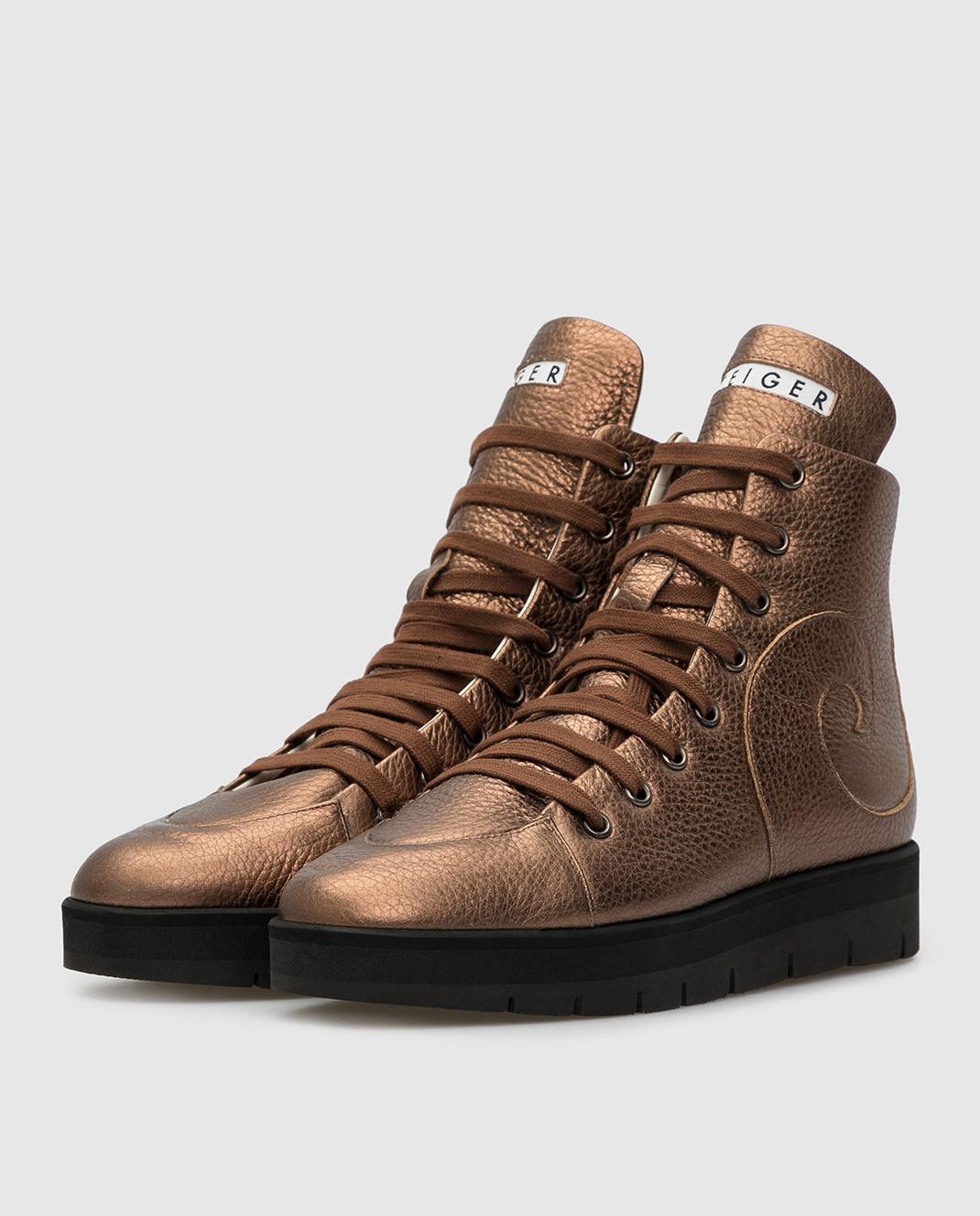 Steiger Бежевые ботинки 1384A изображение 3
