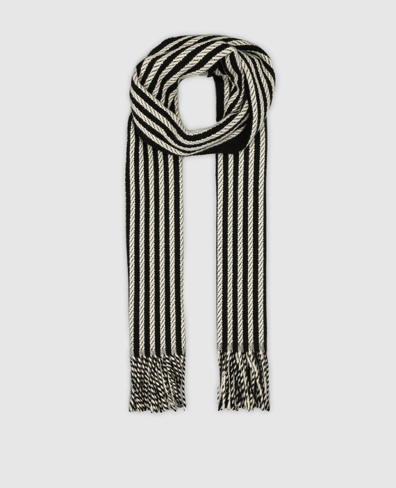 Черный шарф из кашемира