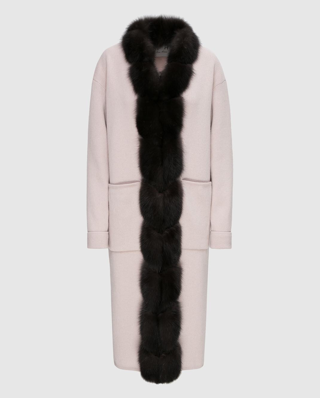 Real Furs House Бежевое пальто CSR01