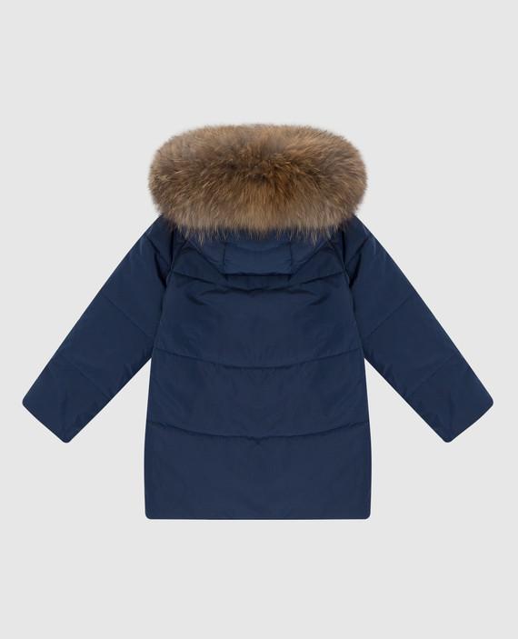Детская синяя куртка hover