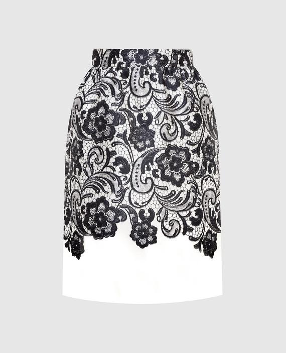 Светло-бежевая юбка из шелка