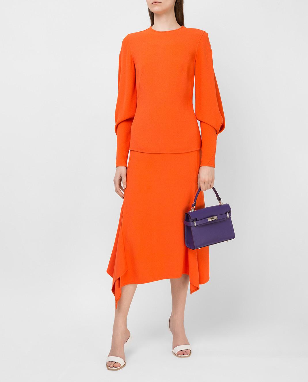 Victoria Beckham Оранжевая блуза TPLNG1339 изображение 2