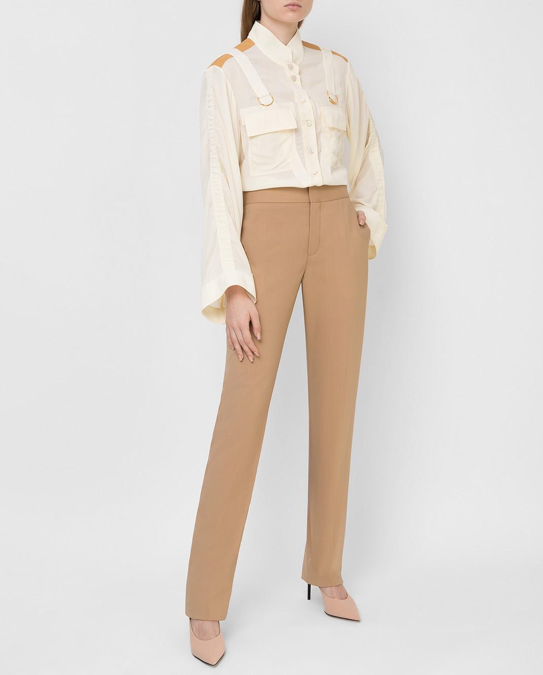 Chloe Бежевые брюки из шерсти 16SPA10 изображение 2