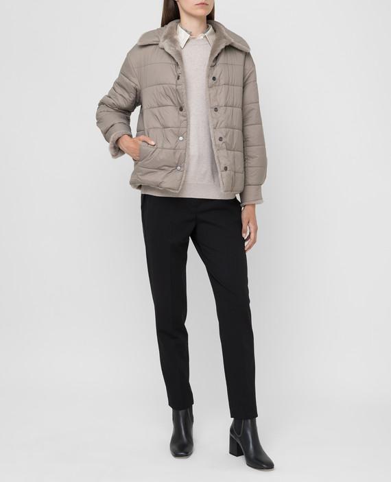 Двухсторонняя куртка с мехом hover