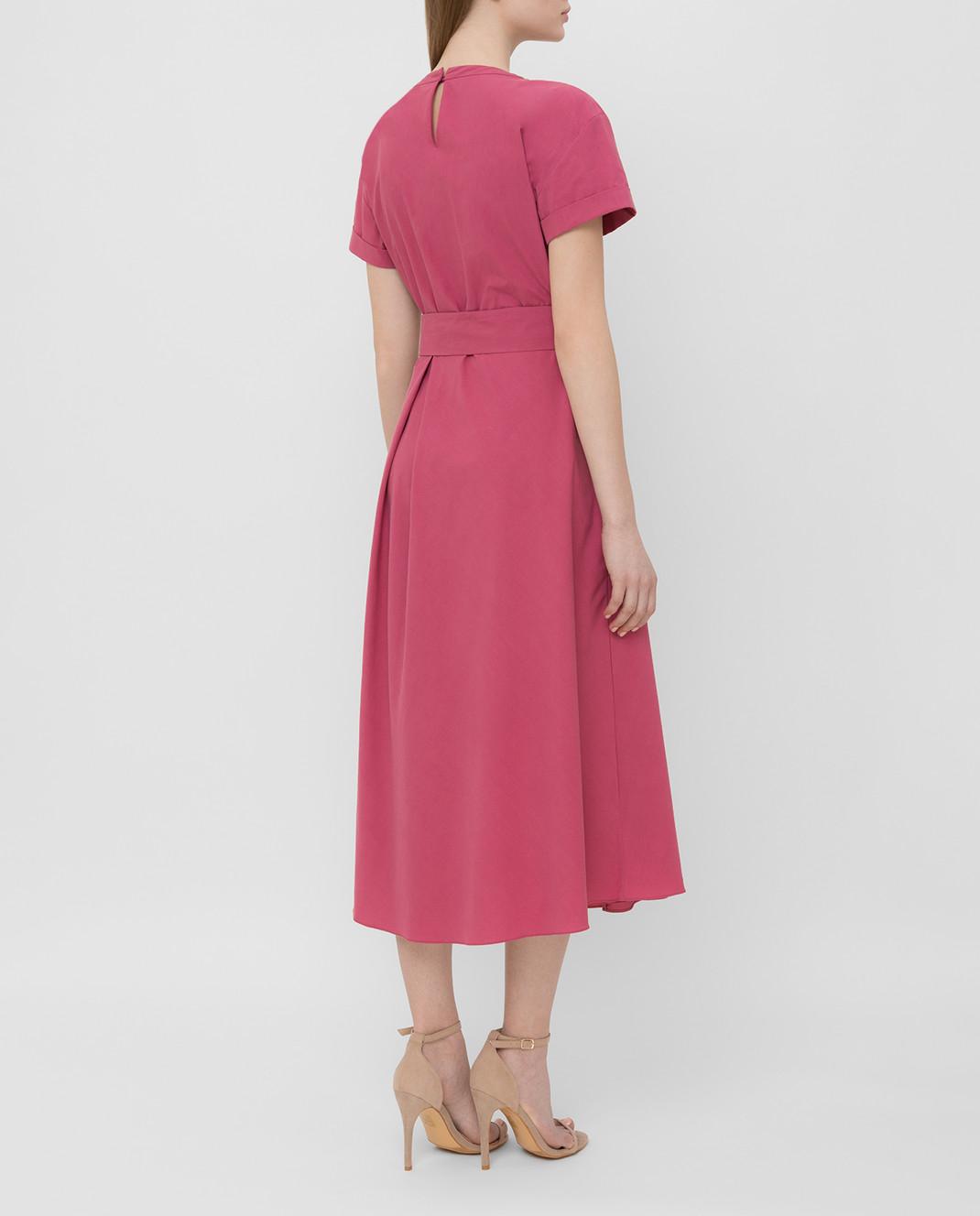Brunello Cucinelli Розовое платье MH127ABV72 изображение 4