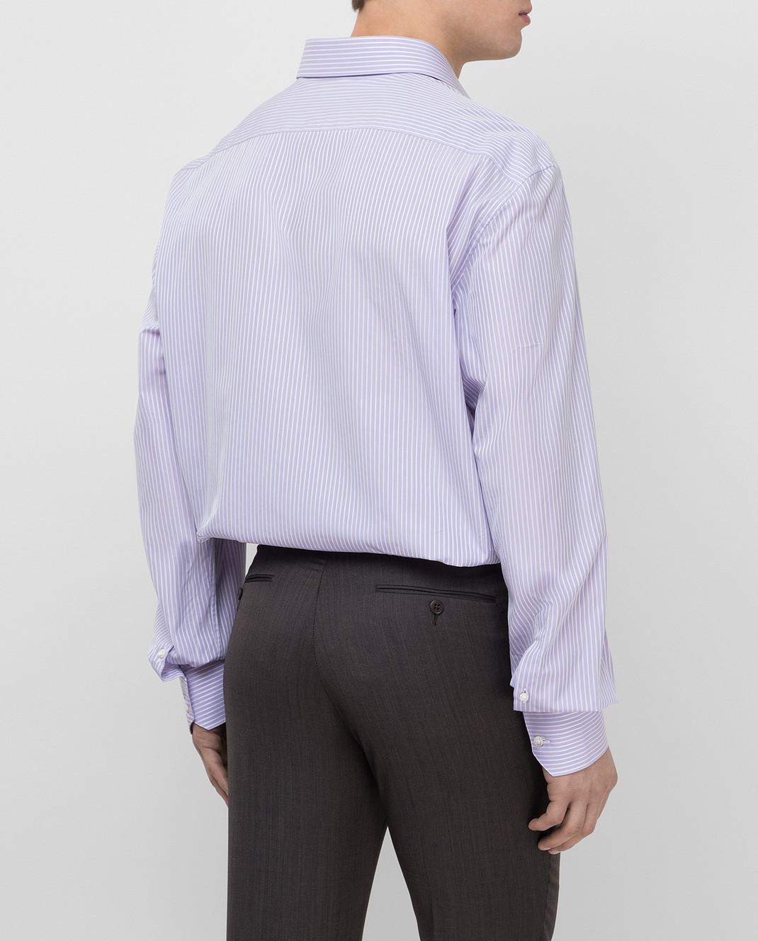 Stefano Ricci Сиреневая рубашка MC000872 изображение 4
