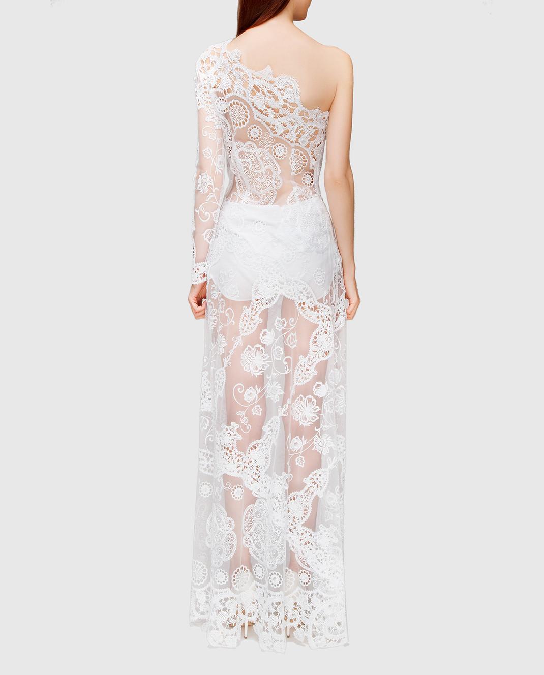 Charo Ruiz Белое платье с кружевом 00354 изображение 3