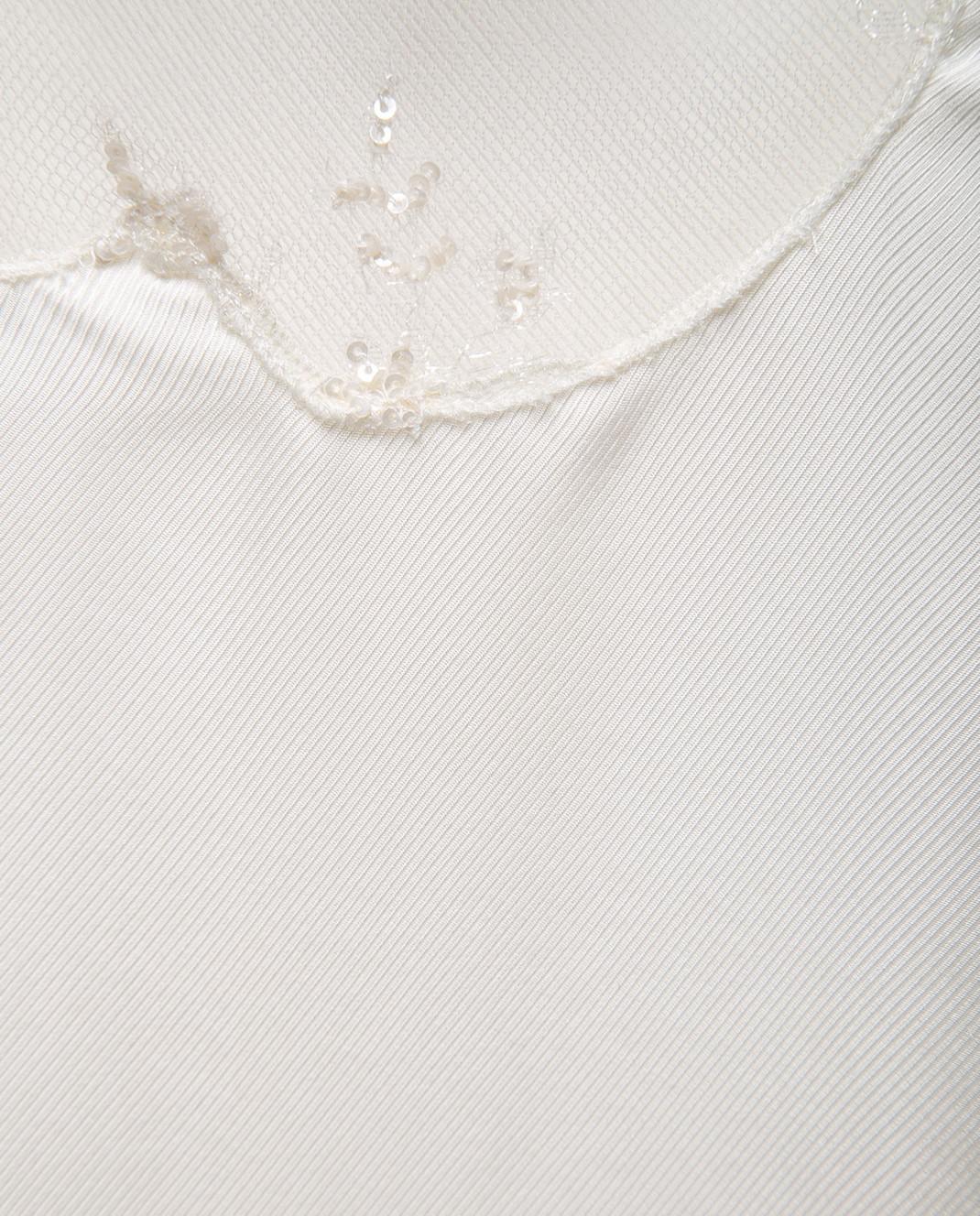 Fabiana Filippi Бежевый топ из шелка изображение 5