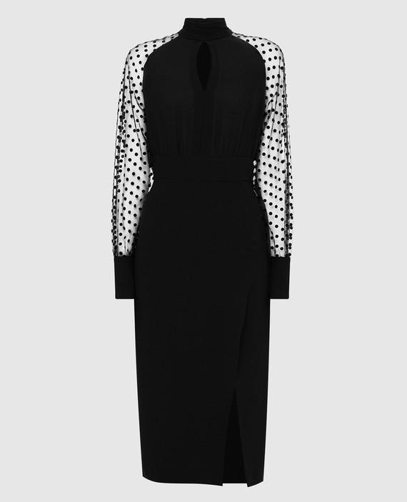Черное платье из шелка