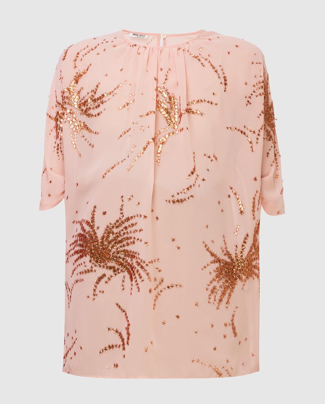 Miu Miu Пудровая блуза MT1296