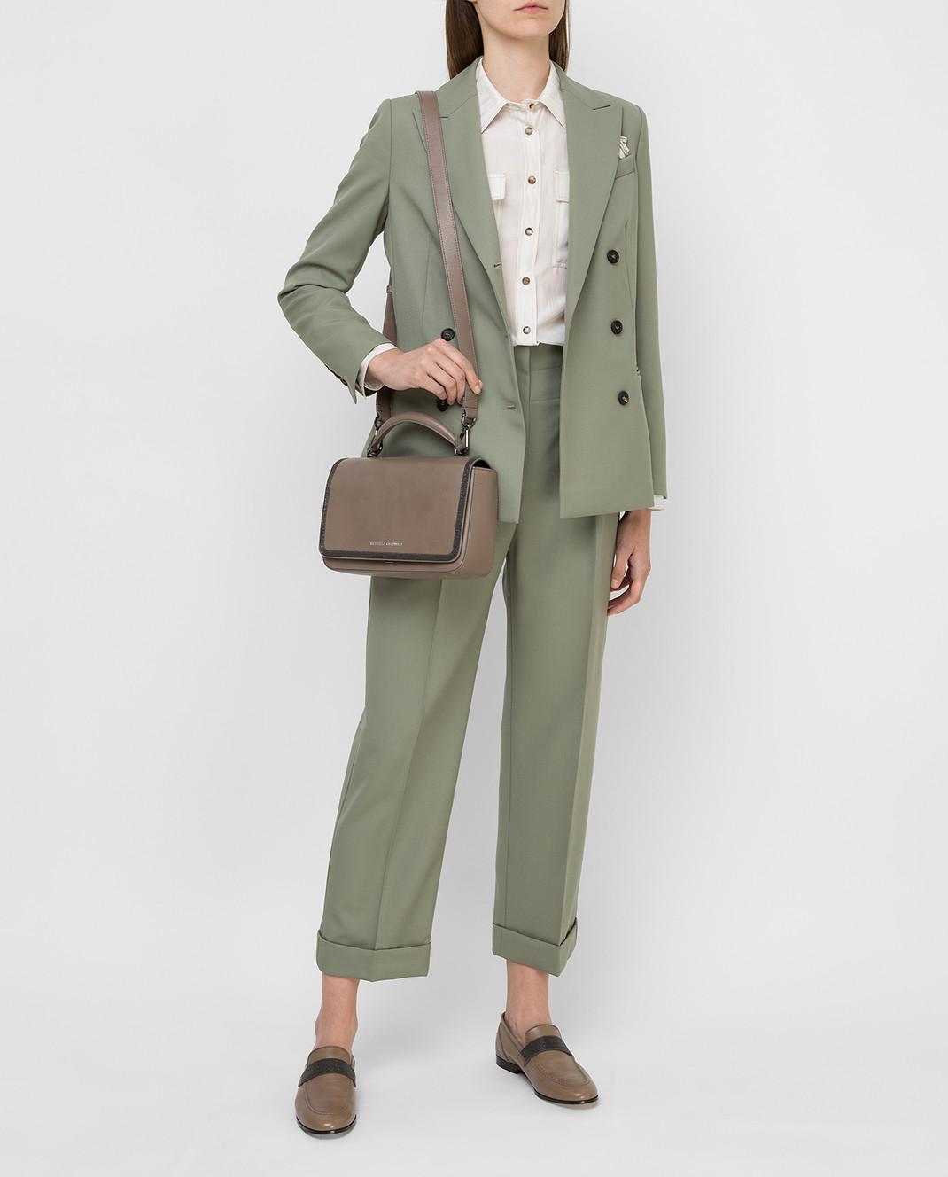 Brunello Cucinelli Зеленый костюм из шерсти изображение 2