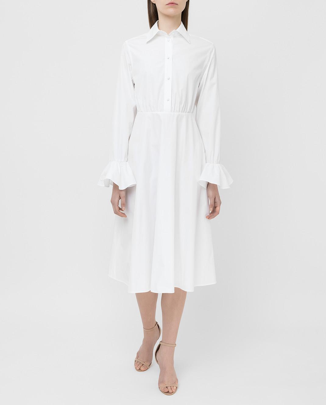 Valentino Белое платье TB3VAR204HP изображение 2