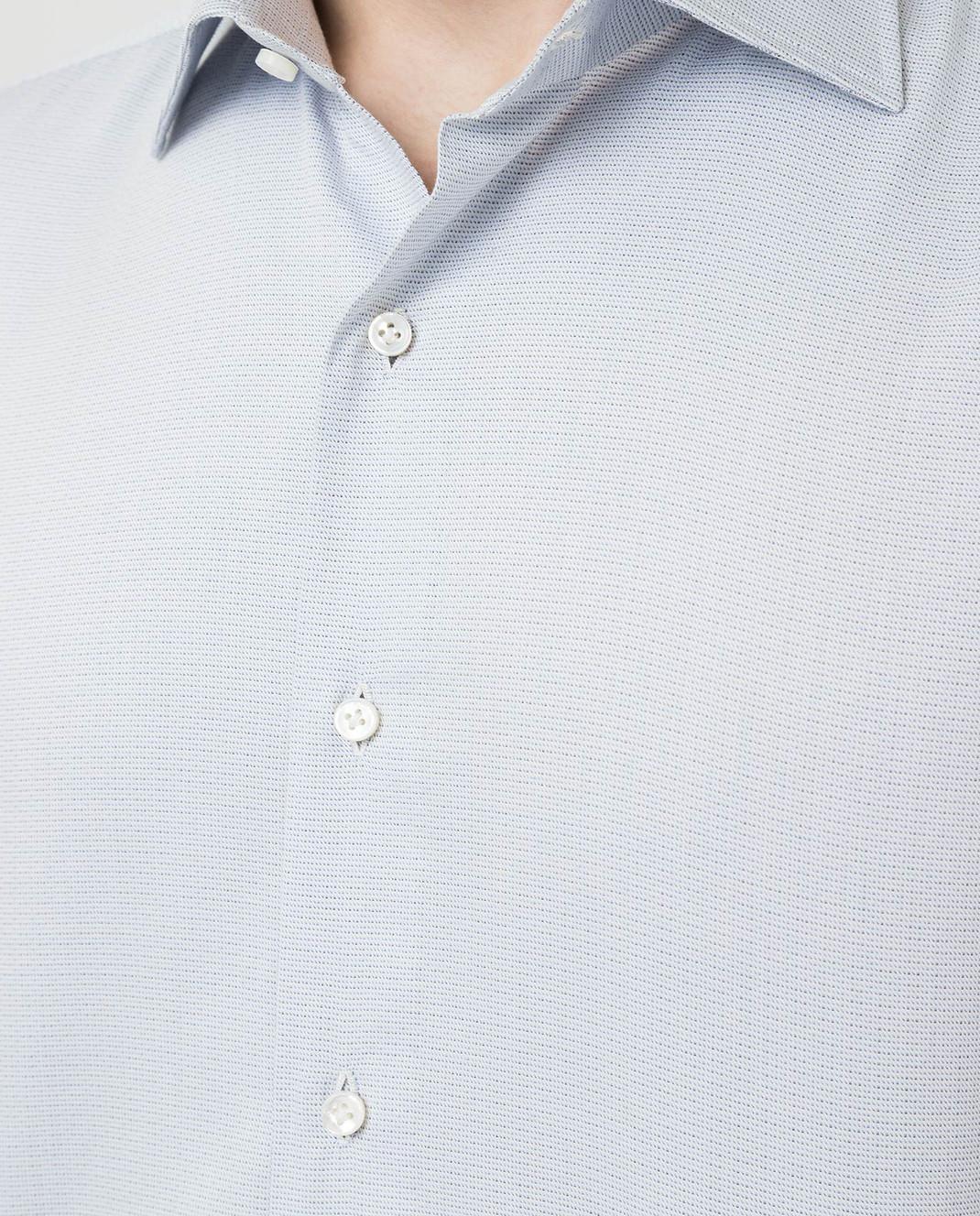 Luciano Lombardi Голубая рубашка 66216210 изображение 5