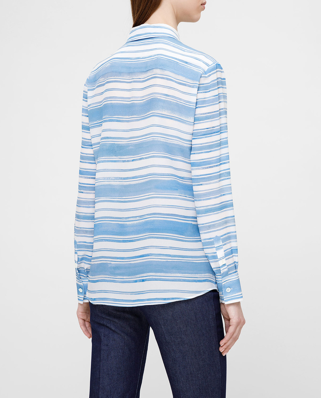 Altuzarra Голубая рубашка из шелка изображение 4