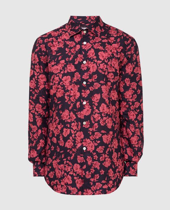 Черная рубашка из льна
