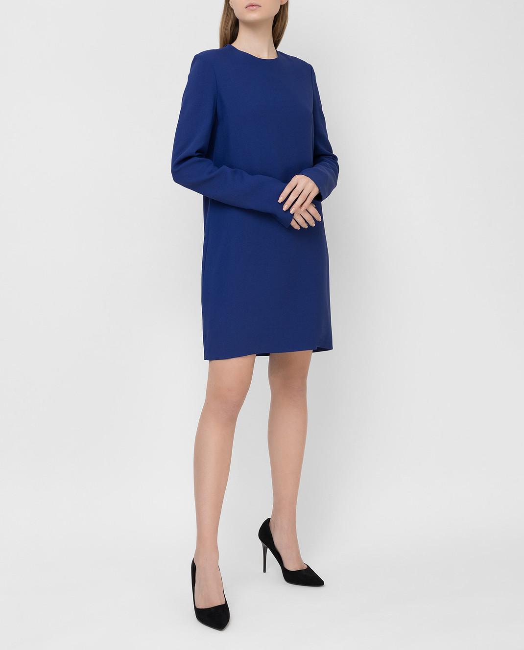 Victoria Beckham Синее платье 517 изображение 2