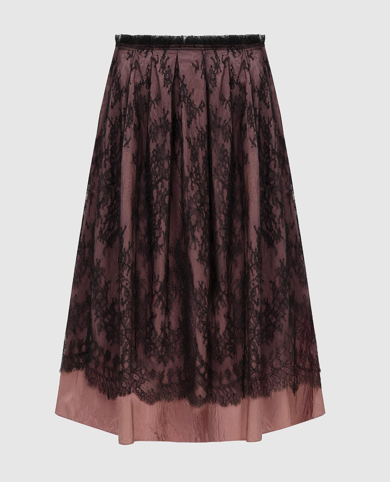 Темно-розовая юбка