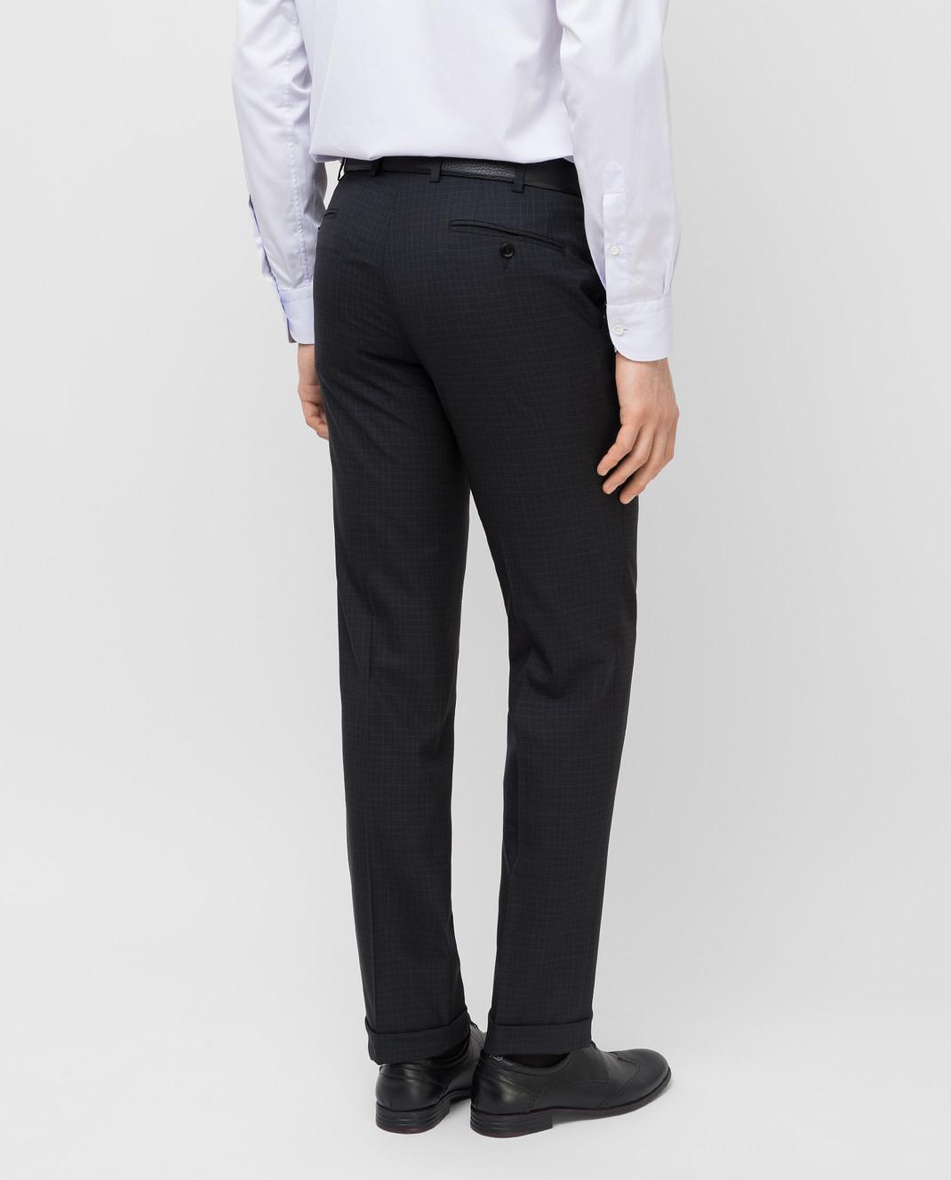 Brioni Темно-серые брюки из шерсти RPL80LP5A71 изображение 4